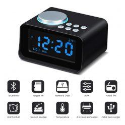 OFERTA AMAZON! Despertador con Altavoz Bluetooth Wonyered por 21€