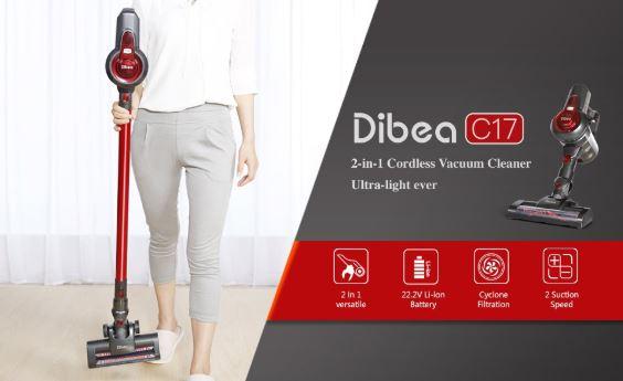 Vuelve el chollo! Aspirador inalambrico Dibea C17 por 81€