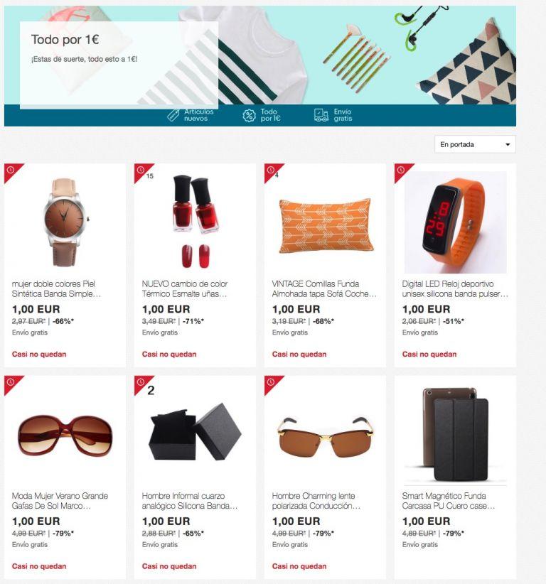 CHOLLO! Multitud de productos de ebay todo 1€