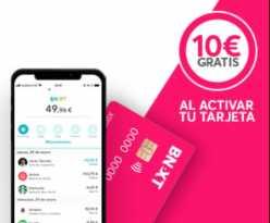Vuelve el chollo! 10€ Totalmente GRATIS con la Tarjeta BNEXT + Sorteo 100€