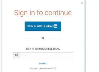 733e642ce 3. Tenéis que iniciar sesión con Linkedin (no sabemos si se puede acceder  mediante un correo de Gmail).