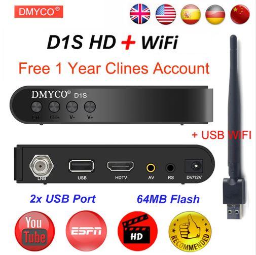 CHOLLO Desde España! Decodificador DMYCO D1S + WiFi + 7 CCCAM a 22€