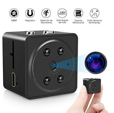 Oferta Amazon Mini Camara Espia Hd Por 16 99 No Lo