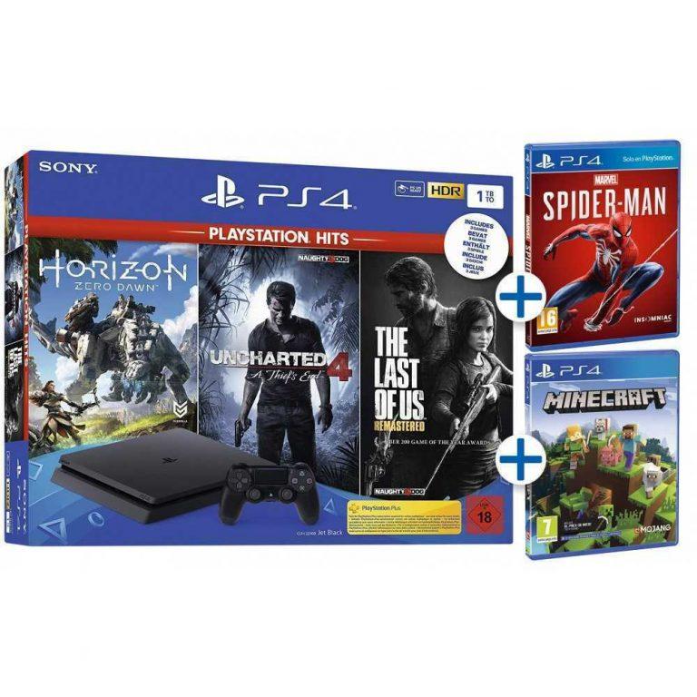 OFERTON desde ES! PlayStation 4 Slim 1TB + 5 juegos a 339€