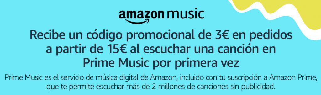 3€ GRATIS al usar Amazon Music