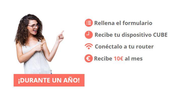 10€ GRATIS al mes con el Dispositivo CUBE