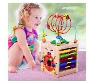 Cubo de madera juegos