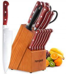 OFERTA AMAZON! Set 15 Cuchillo Cocina Homgeek por 44,9€