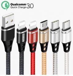 PRECIAZO LOCO! Cable USB MicroUSB, TypeC o Lightining desde 0,8€