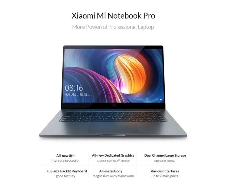 OFERTA con cupon! Xiaomi Mi Notebook Pro 15 a 733€