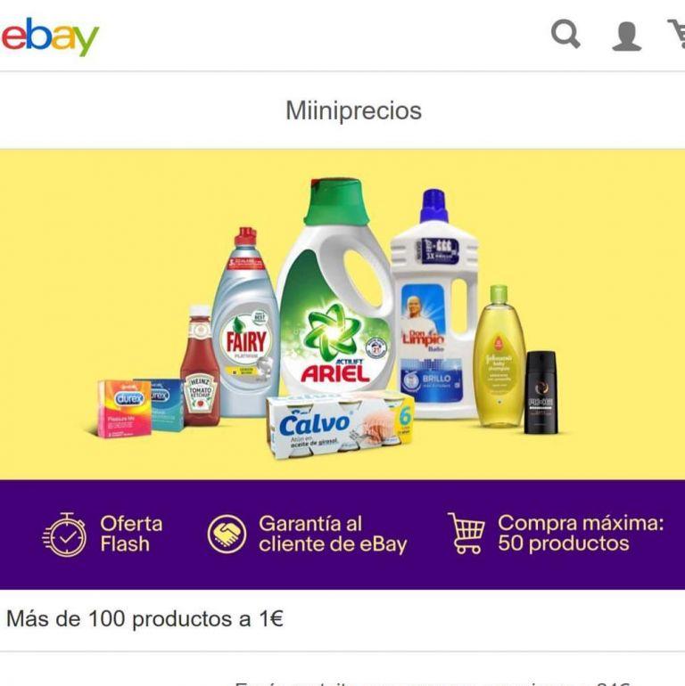 Miniprecio! Mas de 100 productos en el Supermercado de Ebay desde 1€