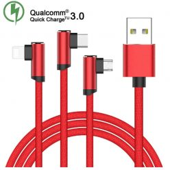 PRECIAZO! Cable con QC 3.0 Type C, Micro USB y iOS a 0,7€