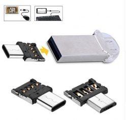 CHOLLITO! Adaptador Micro USB a Usb Type C y a USB A a 0,3€