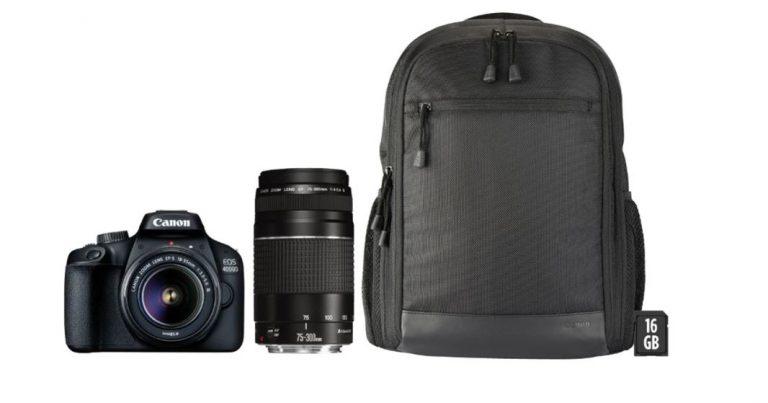 CHOLLAZO! Canon EOS 4000D objetivo + mochila a 296€