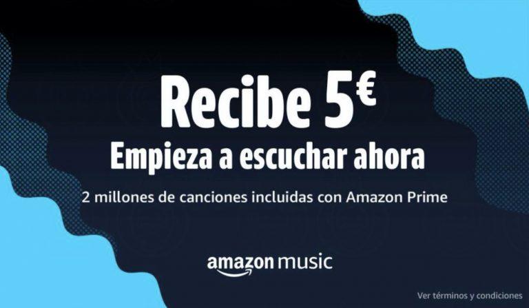 CHOLLAZO AMAZON! 5€ GRATIS en cupon de Amazon por por probar Amazon Music