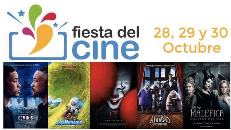 Vuelve la Fiesta del cine a 2,90€ 28, 29 y 30 de Octubre 2019 consigue tu vale ya