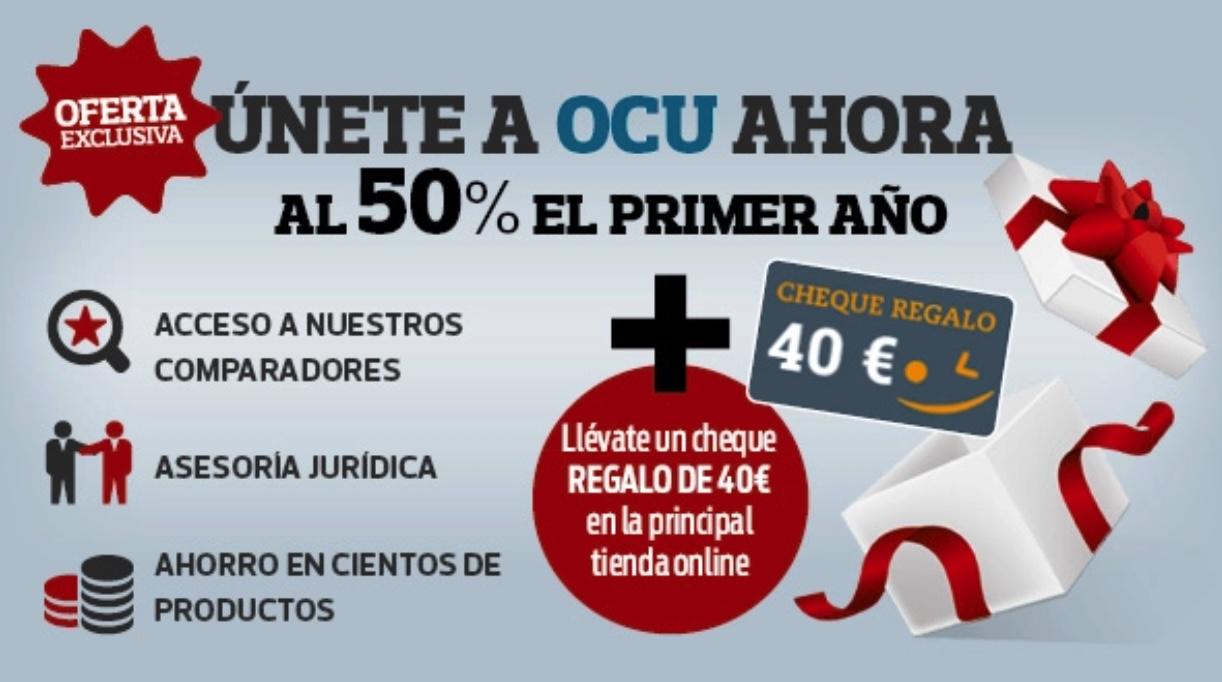 OCU cheque amazon 40€