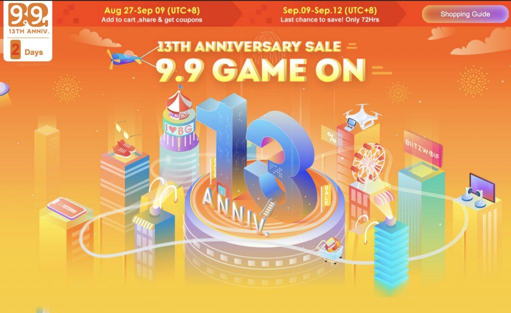 Las mejores ofertas del 13 aniversario Banggood
