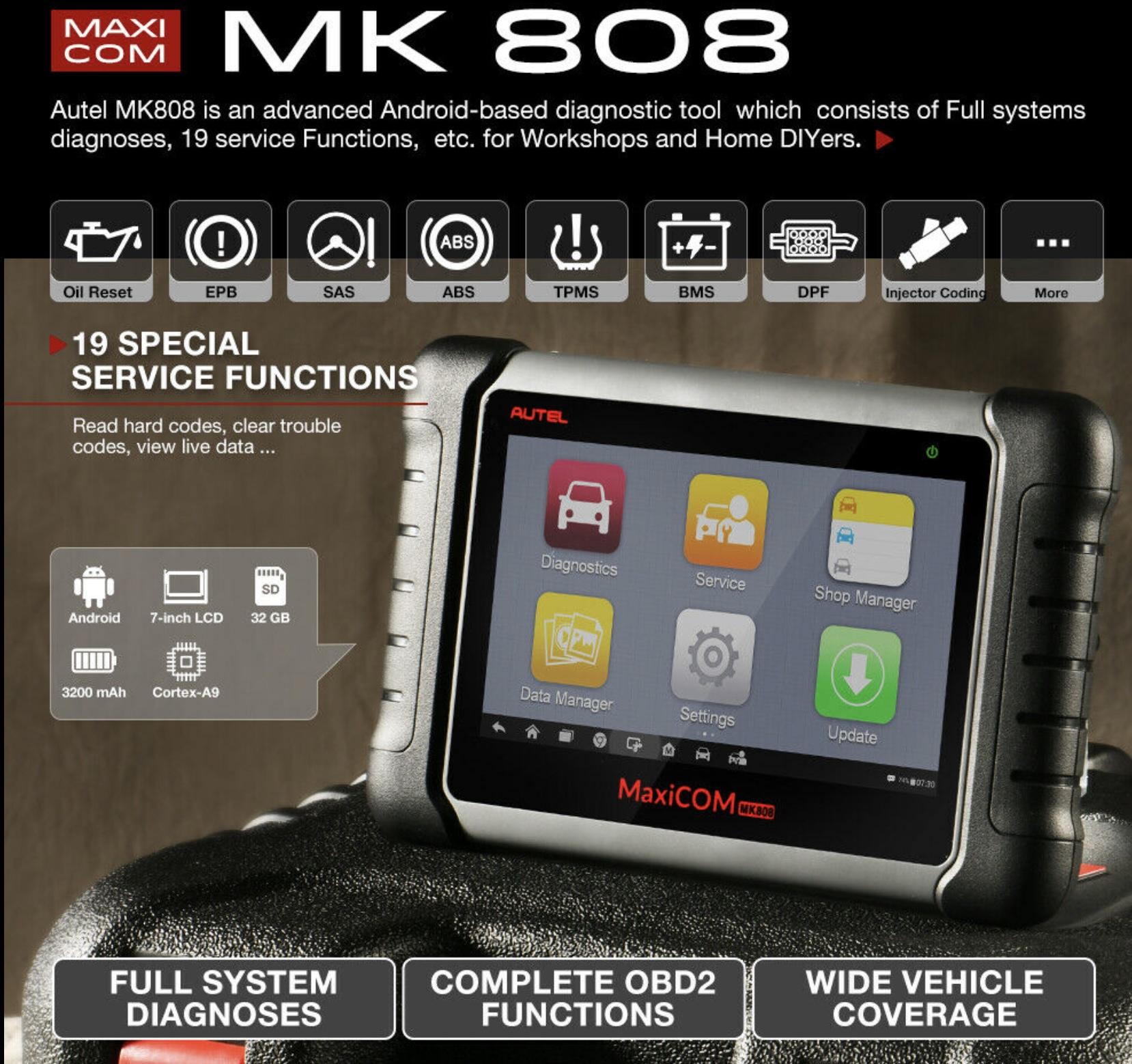OBD2 Autel Maxicom MK808