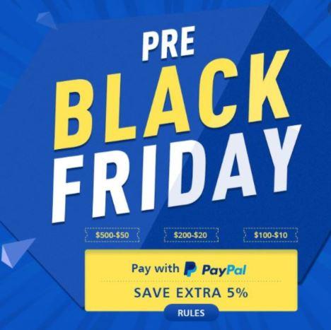 PRE Black Friday Geekbuying: Hasta un 15% de descuento al pagar con PayPal