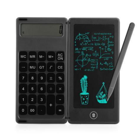 Calculadora plegable con pantalla de escritura LCD