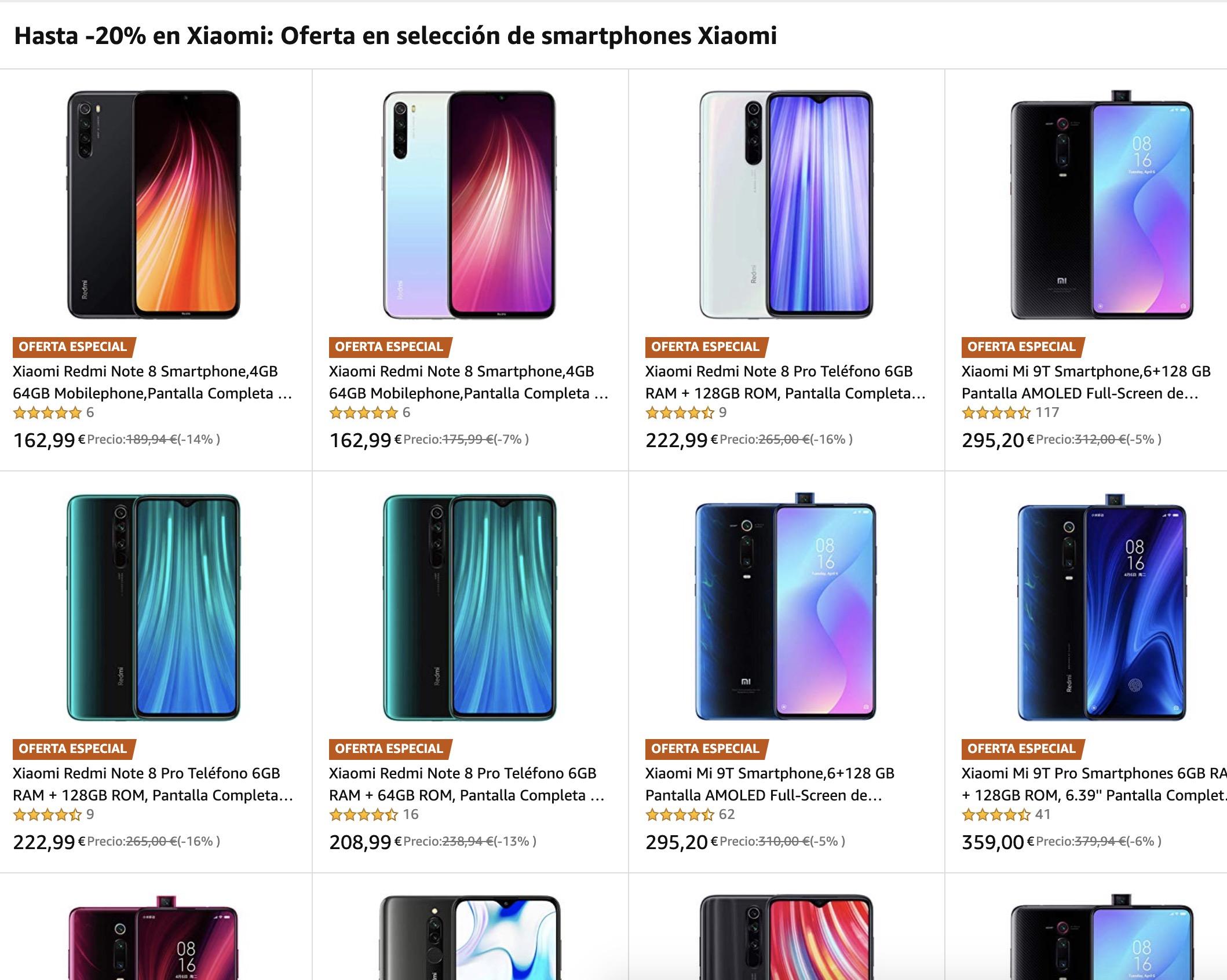 20% descuento en Xiaomi Amazon