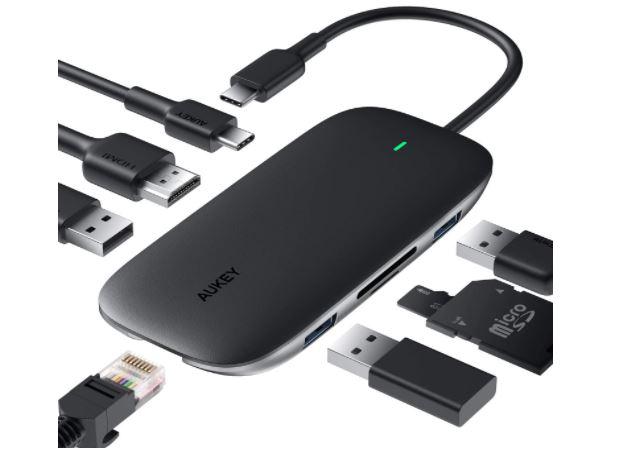 OFERTA AMAZON! HUB USB C 8 en 1 AUKEY a 27€