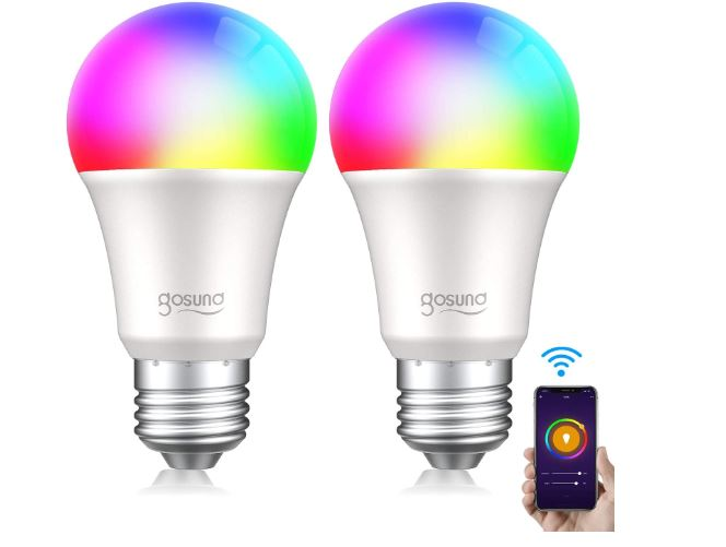 OFERTA AMAZON! 2 Bombillas LED RGB+W WIFI compatibles con Alexa y Google a 9,9€
