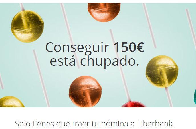 150€ GRATIS por domiciliar tu nómina en la Cuenta Online de Liberbank sin comisiones