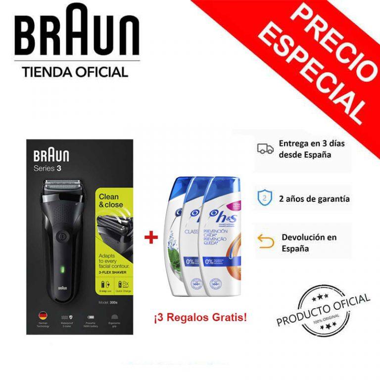Rebaja Amazon! Afeitadora Braun 300s Black Series 3