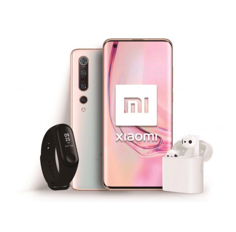 Mega pack lanzamiento Xiaomi Mi 10 Pro 8/256GB + Mi Band + Mi True wireless a 899€