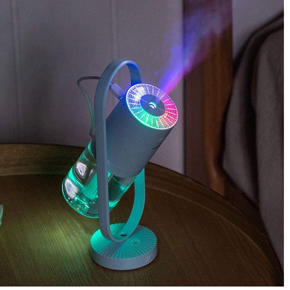 Mini humidificador giratorio con lampara de proyeccion