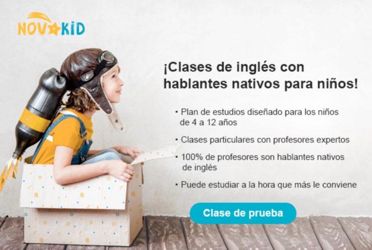 CHOLLO GRATIS! 1 clase de ingles Online con nativo GRATIS para niños con NovaKid