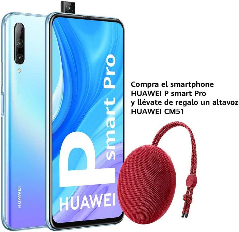 Huawei P Smart PRO: 6GB y 128GB y cámara periscópica + Altavoz de REGALO en Amazon a 219€