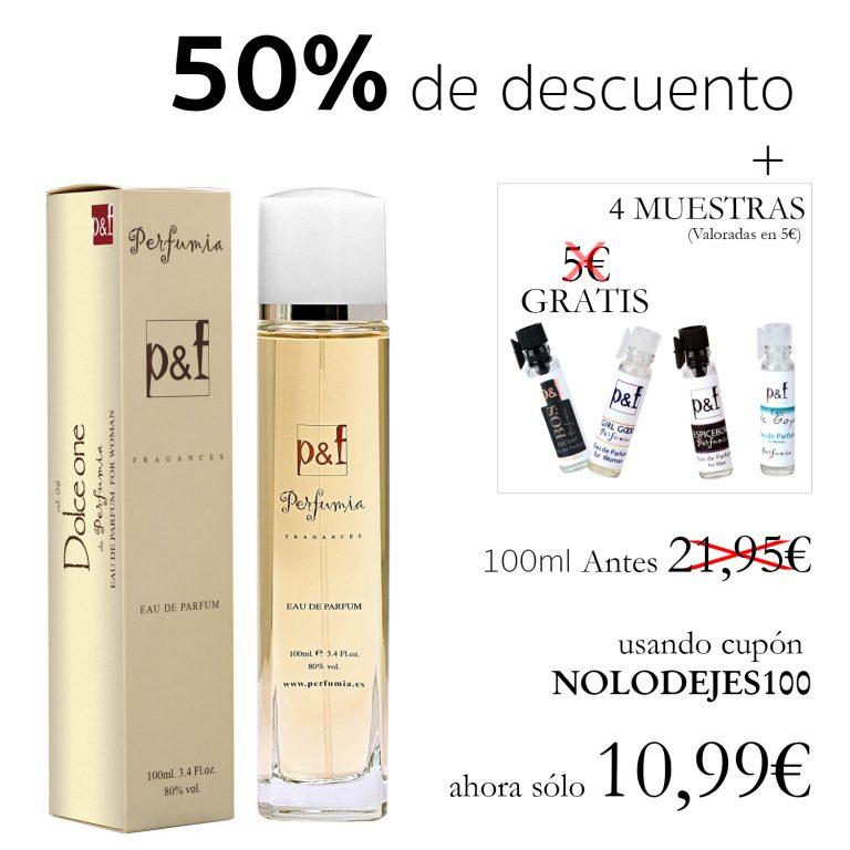 CHOLLO ALIEXPRESS España! 50 % de DESCUENTO en Fragancias Perfumia p&f de imitación las mejores marcas + 4 Muestras a 10,9€
