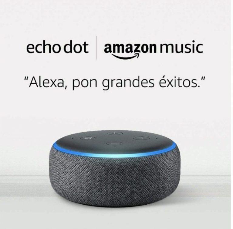 CHOLLO Amazon! Echo Dot 3.ª gen + 6 mes de Amazon Music Unlimited por solo 19,9€
