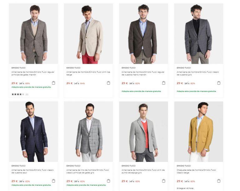 PRECIAZO! Rebajas en Americanas, Pantalones, camisas etc… Emidio Tucci desde 6€