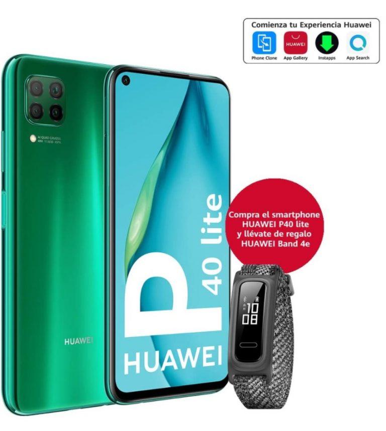 REBAJA Amazon! Huawei P40 Lite 6/128GB + Huawei Band 4e a 189€