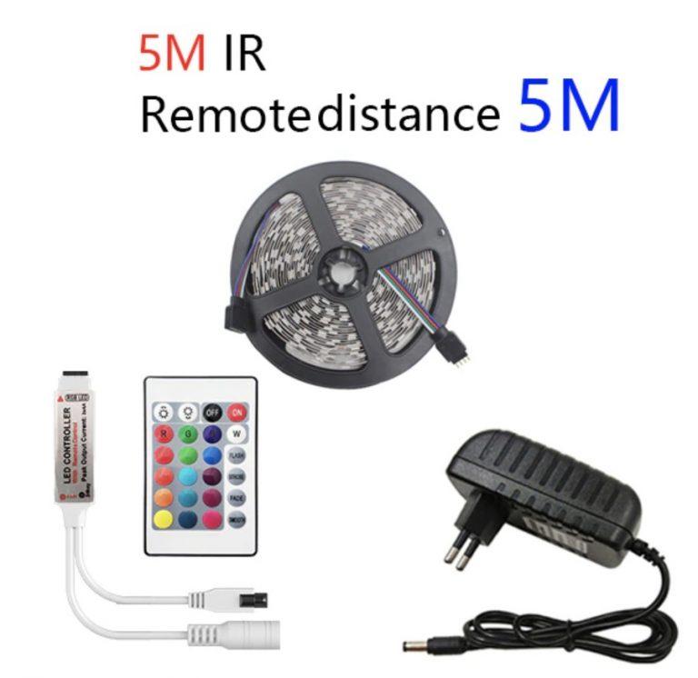 Mas CHOLLITO! Tira LED 5M Leds + Mando + Adaptador leds 2835 a 1,9€ y leds 5050 a 3€