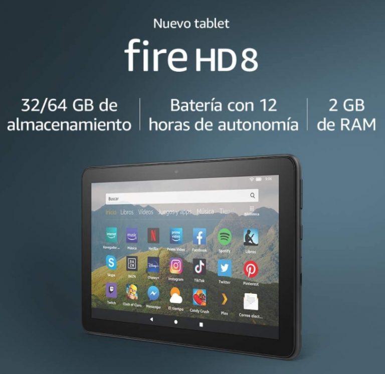 REBAJA Amazon! Tablet Fire HD 8 al mejor precio