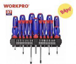 SUPER PRECIO desde ESPAÑA! Pack 2 x Juego destornilladores Workpro 37 piezas a 21,6€