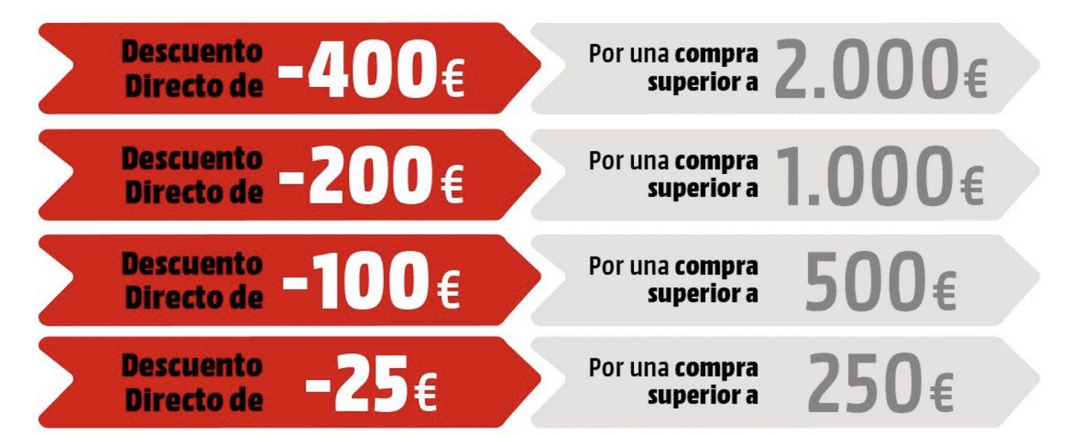 CHOLLO Mediamarkt! Hasta 400€ de descuento directo