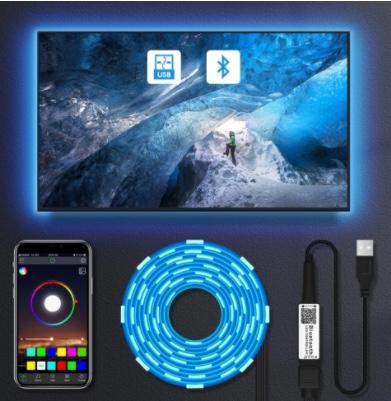 CHOLLO! Tira LED 5050 USB 1m Bluetooth a 1€