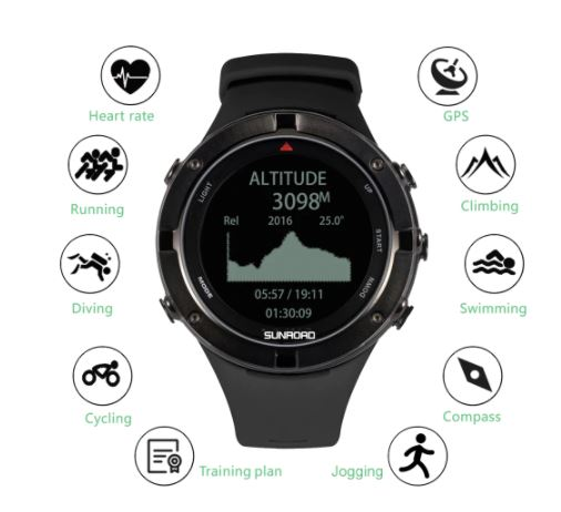 OFERTITA! Smartwatch SUNROAD GPS a 53€