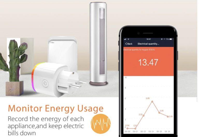 Enchufe inteligente Tuya WiFi te mide el consumo y es compatible con Alexa por solo 5€ desde Aliexpress