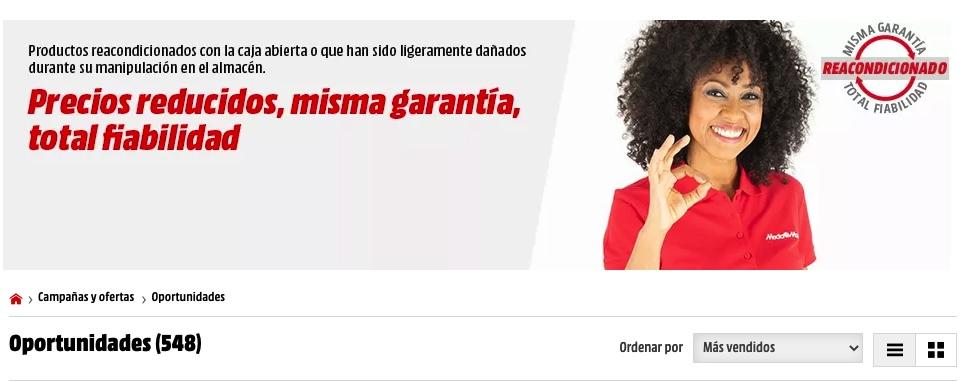 PRECIOS LOCOS! MediaMarkt Reacondicionádos con precios mínimos en muchos artículos