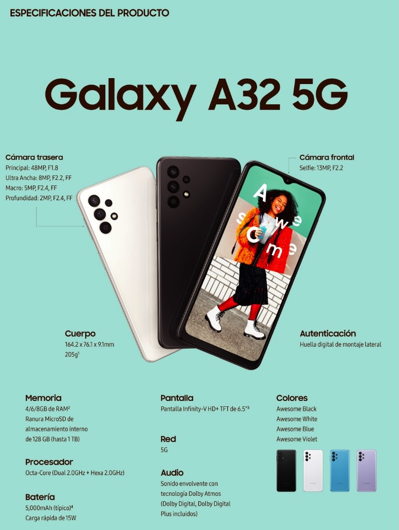 especificaciones galaxy a32 5g
