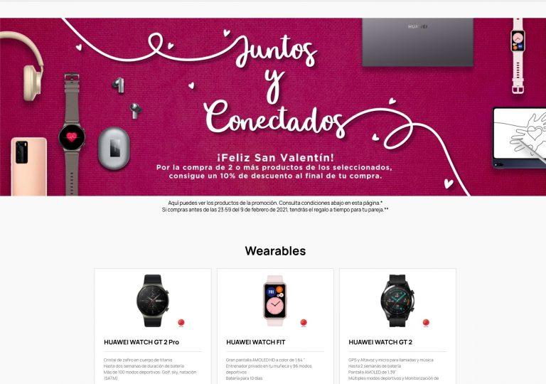 Juntos y conectados Huawei: nueva promo para San Valentin con los mejores precios del año