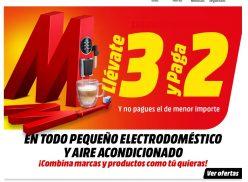 3×2 Mediamarkt Especial pequeño electrodoméstico y aire acondicionado