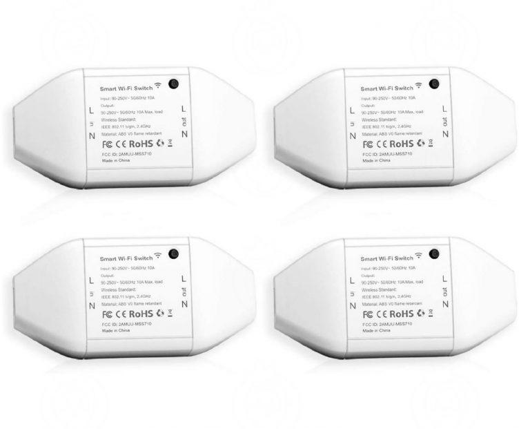 Mega Pack AMAZON! 4 x Interruptor inteligente WIFI compatible con Alexa y Google Home a 17,6€